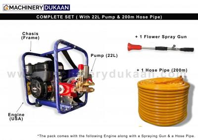 Briggs & Stratton Power Sprayer 22L with 200m hose pipe