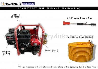 Briggs & Stratton Power Sprayer 18L with 100m hose pipe