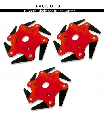 6 Teeth Blade for Grass Cutting Pack of 3
