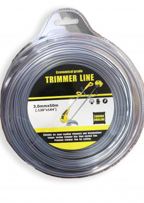 Square  Rope for Brush cutter / Grass Cutter 50M roll