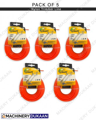 Nylon Rope for Brush cutter / Grass Cutter (Pack of 5)